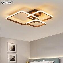 Nowe oświetlenie sufitowe LED do salonu jadalnia sypialnia możliwość przyciemniania z pilotem biała kawa oprawa oświetleniowa Lamparas De Techo