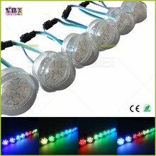 200 pcs/pack super bright DC12V 2903IC 9LEDs SMD 5050 RGB Pixel Light D36mmTrans