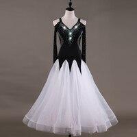Elegant Ballroom Dress Women Long Sleeve Waltz Standard Dance Tango Competition Dresses Modern Dancing Performance Outfit DC2487