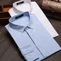 Большой размер M-3XL мужчины твердые рубашки новый 2015 осенью мода тонкой длинным рукавом свободного покроя рубашки горячая распродажа кнопка - Camisas