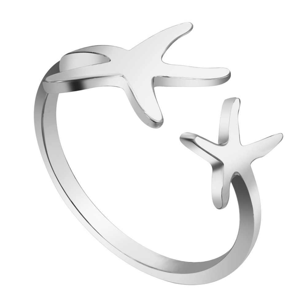 Gold Silver Ocean Starfish แหวนผู้หญิง Twinkle Star แหวน Nautical Beach Sea Star แหวนราคาถูกขายส่งเครื่องประดับ