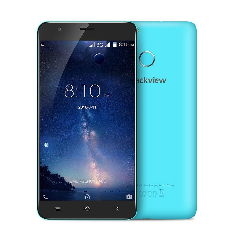 Цена за Оригинал blackview mtk6580a e7s 5.5 дюймов hd смартфон quad core сотовый телефон 2 ГБ RAM 16 ГБ ROM Android 6.0 3 Г GPS мобильного телефон
