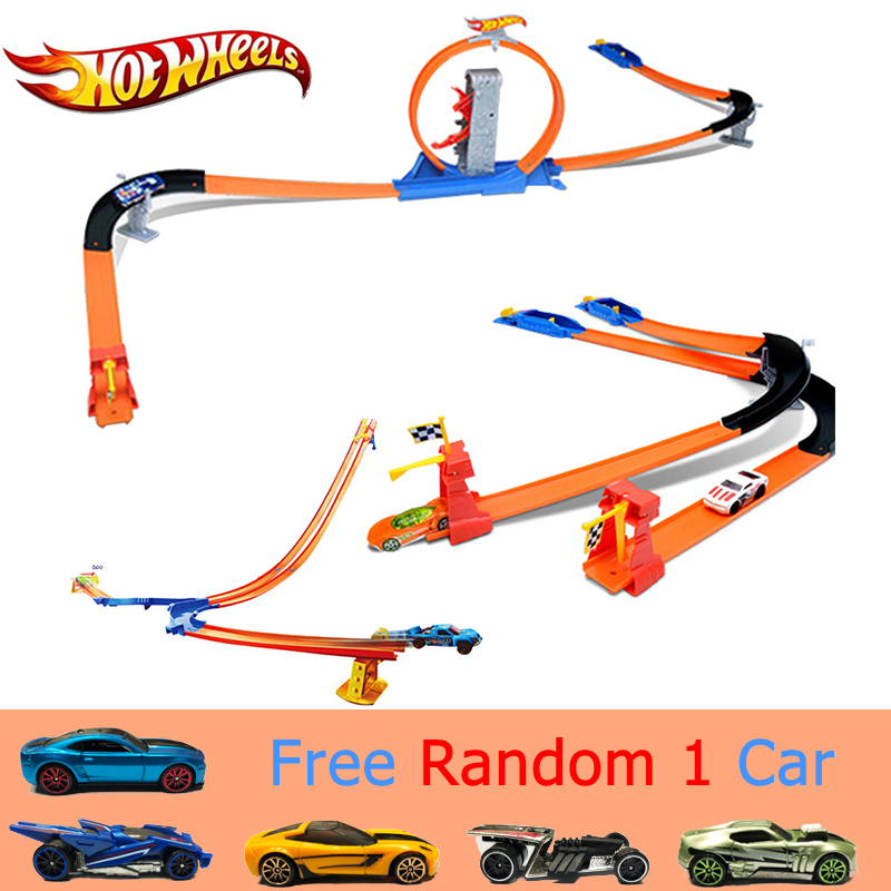 Hot Wheels Racing Car 3Style Set Easy Style High Speed Competition Car Hotwheels Track Toy Children Day Gift For Kid Model BGJ08