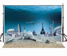 150x220cm Amazing Undersea View Backdrop Famous European Style Landscapes Photography Background