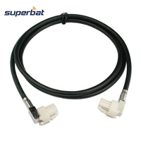 Superbat HSD Vehicle Automobile Cable Assembly B Code Right Angle Female Jack To B Code Right
