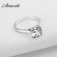 Wholesale 2 Carat Round Cut Sona Created Diamond Solid Sterling 925 Silver Wedding Promise Engagement Finger