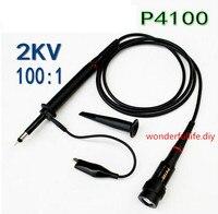 100X P4100 High Voltage 2KV 2000V Oscilloscope Scope Passive Clip Probe 100MHz