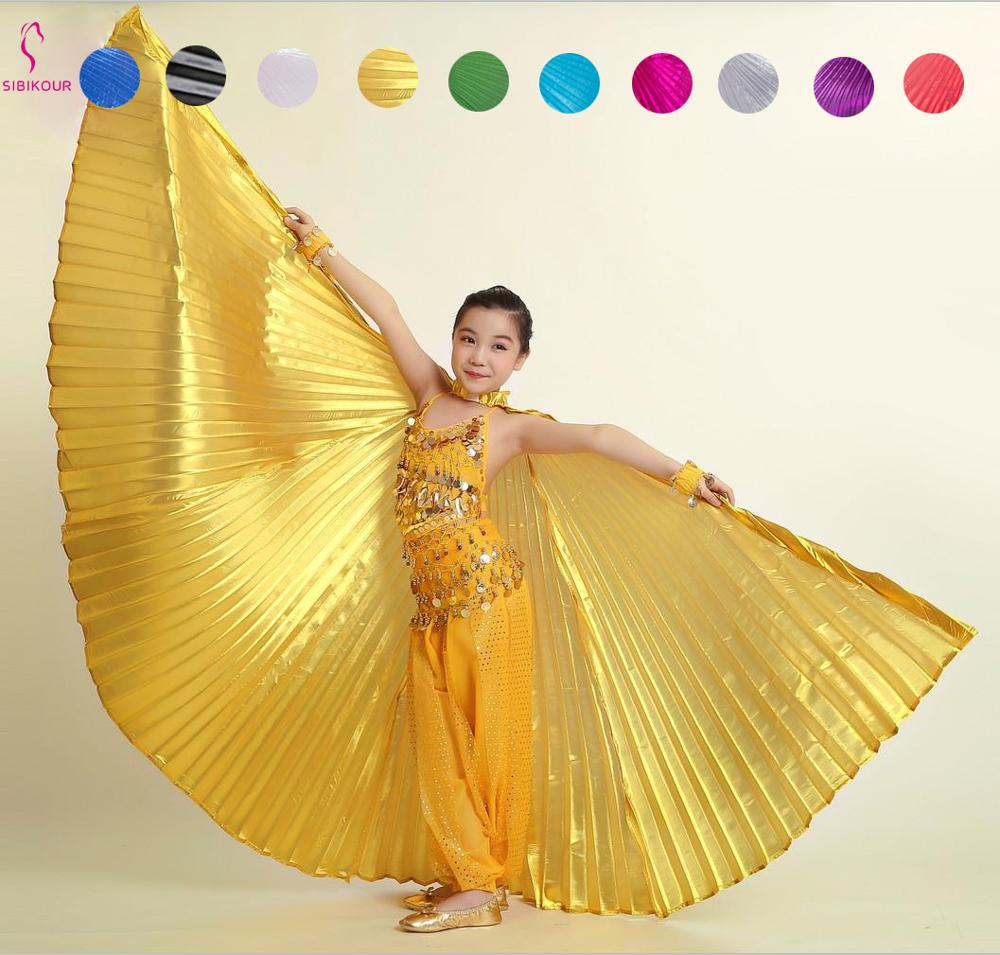 Kids Belly Dance Costume Wings Costume Bollywood Oriental Egyptian Isis Wings Egypt Dance Accessories Butterfly Wings For Girls