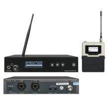 Receptor Transmissor sem fio in ear monitor system Metal fones de Monitoramento PLL UHF Profissional do REINO UNIDO-560 para o Show no Palco