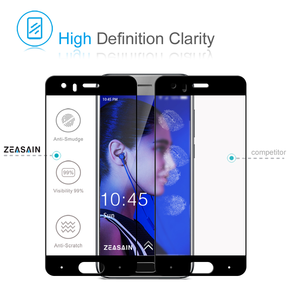 Asli ZEASAIN Penuh Penutup Pelindung Layar Kaca Tempered untuk Huawei - Aksesori dan suku cadang ponsel - Foto 3