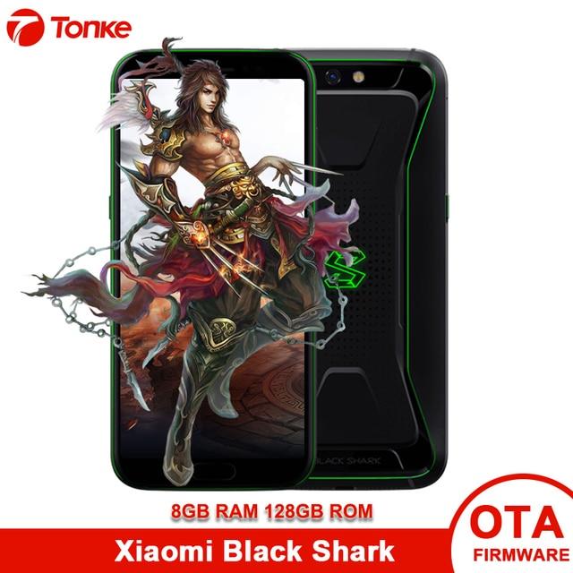 """Versión Global Xiaomi tiburón negro Juego teléfono 8 GB RAM 128GB ROM Snapdragon 845 Octa Core 5,99 """"18:9 Pantalla Completa teléfono de juegos"""