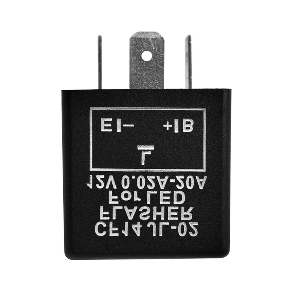 IZTOSS 3-Pin 12V CF14 Electronic LED Flasher Relays For Car LED Related Turn Signal Bulbs Light Hyper Flash Fix New