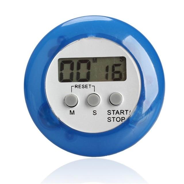 Digital Alarm Clock Round Magnetic LCD Digital Kitchen Countdown ...