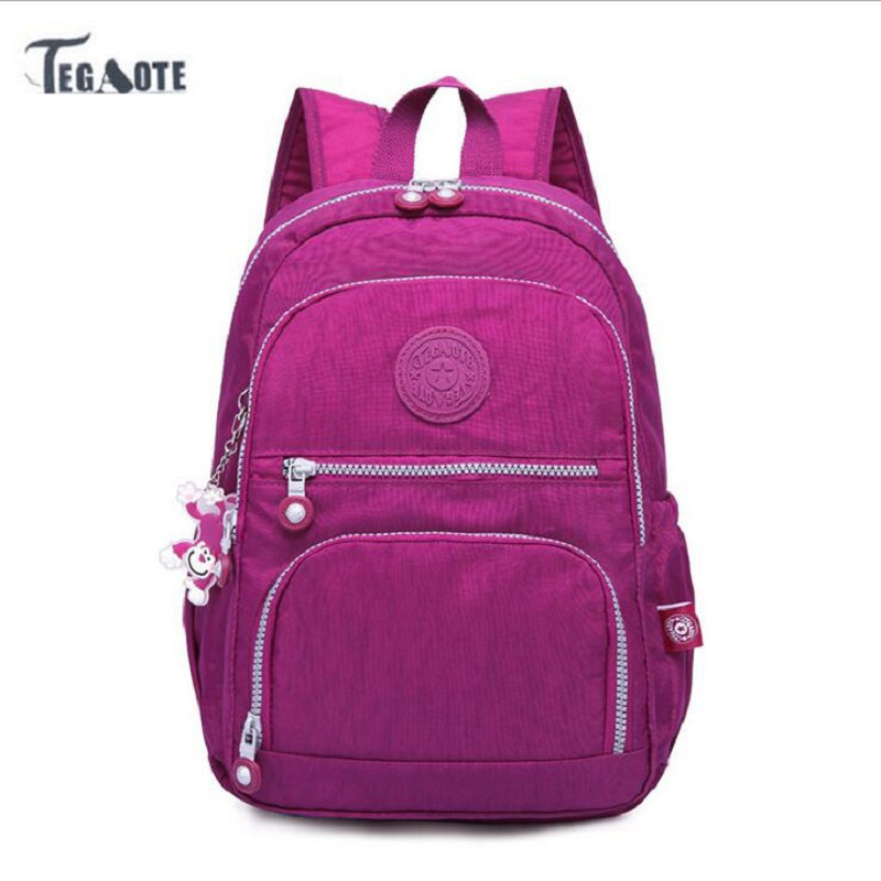 TEGAOTE School Backpack for Teenage Girls Mochila Feminina Escolar Women Backpacks Nylon Casual Laptop Bagpack Female Sac A Dos tegaote nylon waterproof school backpack for girls feminina mochila mujer backpack female casual multifunction women laptop bag