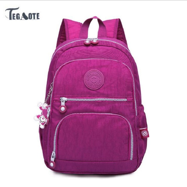 TEGAOTE School Backpack for Teenage Girls Mochila Feminina Escolar Women  Backpacks Nylon Casual Laptop Bagpack Female Sac A Dos 74e483b2e8555