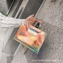 Female 2018 New Laser Mini Ins Cat Carrying Handbag Chain Shoulder Bag Cute Girl Messenger Small Square Bags DJB-24 dj bag djb k mini plus