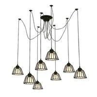 Старинные подвесной светильник Паук лампы светодиодные фонари для дома из бечёвки подвесной светильник для ресторана кафе промышленные по