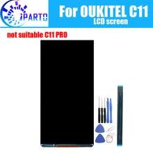 Oukitel c11 lcd screen display 100% original novo testado de alta qualidade substituição da tela lcd para c11 + ferramentas