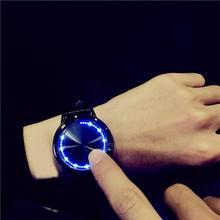 Любители Водонепроницаемый светодиодный часы Для женщин Для мужчин Наручные часы кожа Relojes кварцевые наручные часы Повседневное пары наручные часы подарок # D