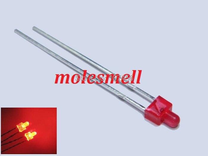 Pces Novo Difuso Vermelho Led Luz Lente Vermelha 200 2mm