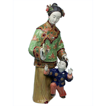 Antique Statues of Chinese Lady Ceramic Sculpture Arts Collectibles Porcelain Figurine for Christmas Home Decor Vintage Statue