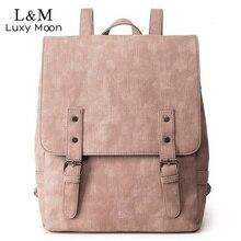 Для женщин рюкзак большой Школьные сумки для подростков Обувь для девочек Сумка Винтаж из искусственной кожи Рюкзаки черный Повседневное одноцветное рюкзак XA83H