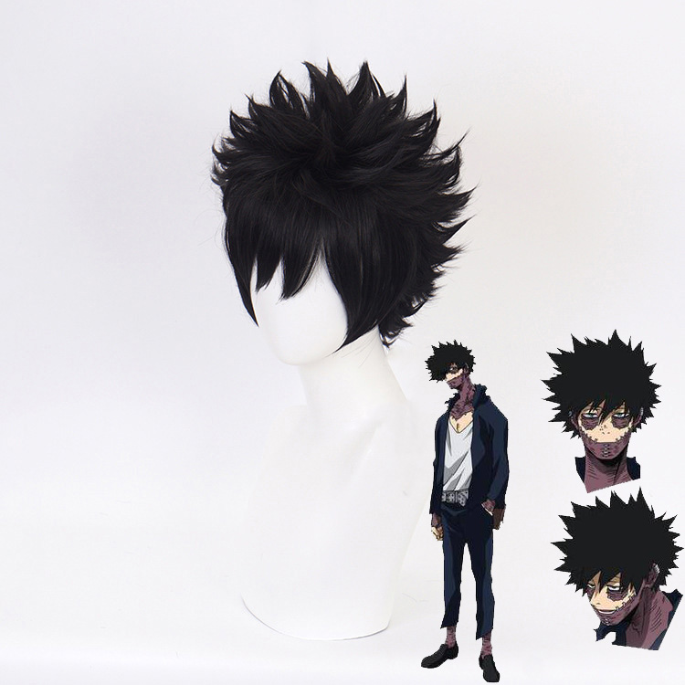 Boku no Hiro Akademia Dabi short wig My Hero Academia Black Cosplay Wig+Wig Cap