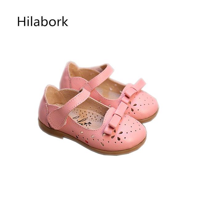 2017 primavera novas crianças shoes não-deslizamento moda couro massa macia shoes hook & loop arco meninos casuais menina da criança shoes