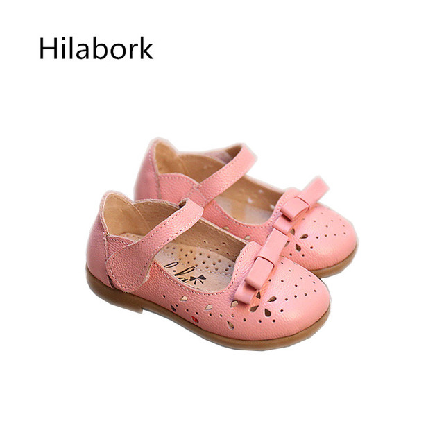 2017 spring new children's shoes non-slip soft dough fashion leather shoes HOOk & LOOP bow boys casual toddler girl shoes