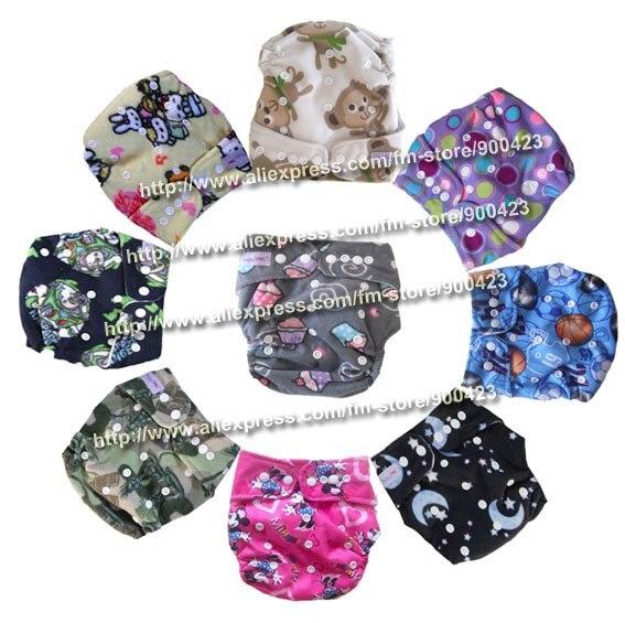 Акция настоящие Подгузники одежда в стиле унисекс подгузники оптом-моющиеся детские подгузники Подгузники 9 шт подгузники+ 9 шт вставки для 4-17 кг