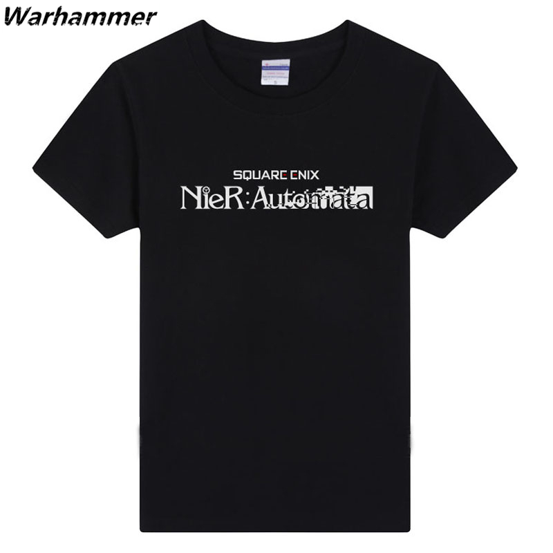 PS4 Game Men T shirt NieR Automata New Game Player Style Tee Shirt Homme Printed Cotton O-neck 3XL Summer Short Sleeve Tops Tees