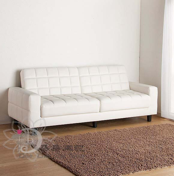 Casual and simple leather sofa multifunction folding sofa bed ...