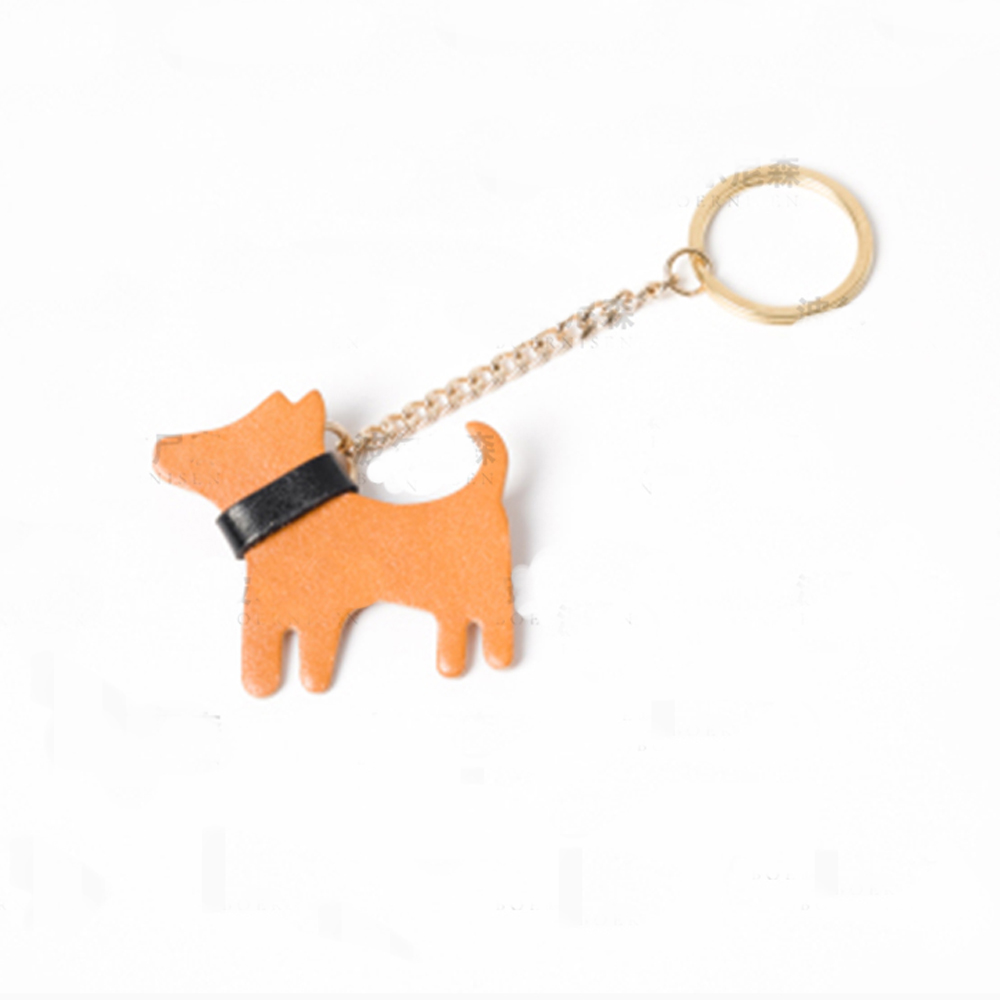 DIY Leather Craft Dog Shape Die Cutting Knife Mould Hand Punch Tool Key Ring Hanging Decoration