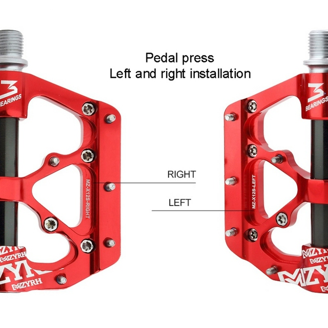 Universal Sealed 3 Bearing Bicycle Flat Pedals CNC Ultralight Aluminum Pedals For MTB Road Cycling