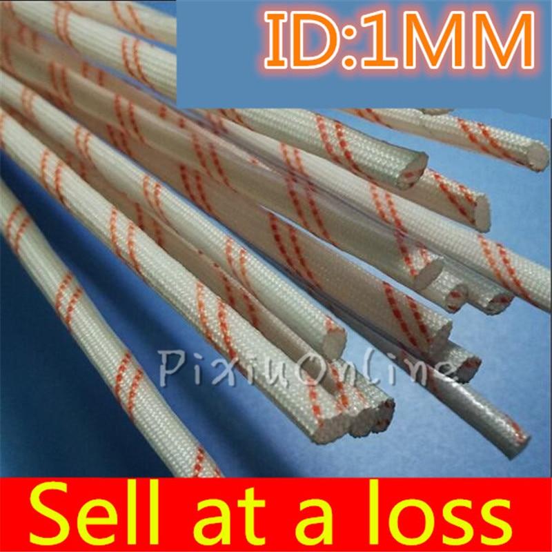 0.9Meterlot YL439 1MM Diameter High Temperature Sleeve Alkali-free Glass Fiber Tube Power Cord Bushing  Wire Casing Free Shippi