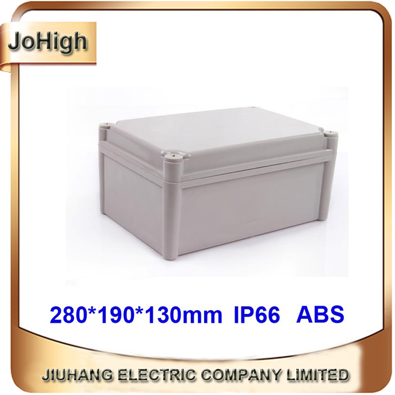 Waterproof Grey Plastic Electrical Wire Enclosure Case Shell Project Case Junction Box 280*190*130mm(L*W*H) 1pcs lot custom processed factory extrusion aluminum material electrical junction box case enclosure 80 h x234 w x250 l mm
