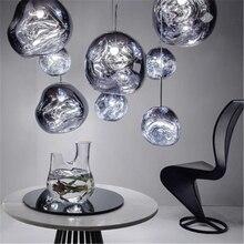 Nordic 100% Glass Lights Chandelier luster DIXON Melt Lava Pendant Lamps Living Room Bedroom HangLamps Restaurant Home Lighting