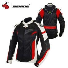 BENKIA 여성 오토바이 자켓 보호 장비 통기성 오토바이 레이싱 자켓 모토 자켓 모토 펨 S 2XL 사이즈