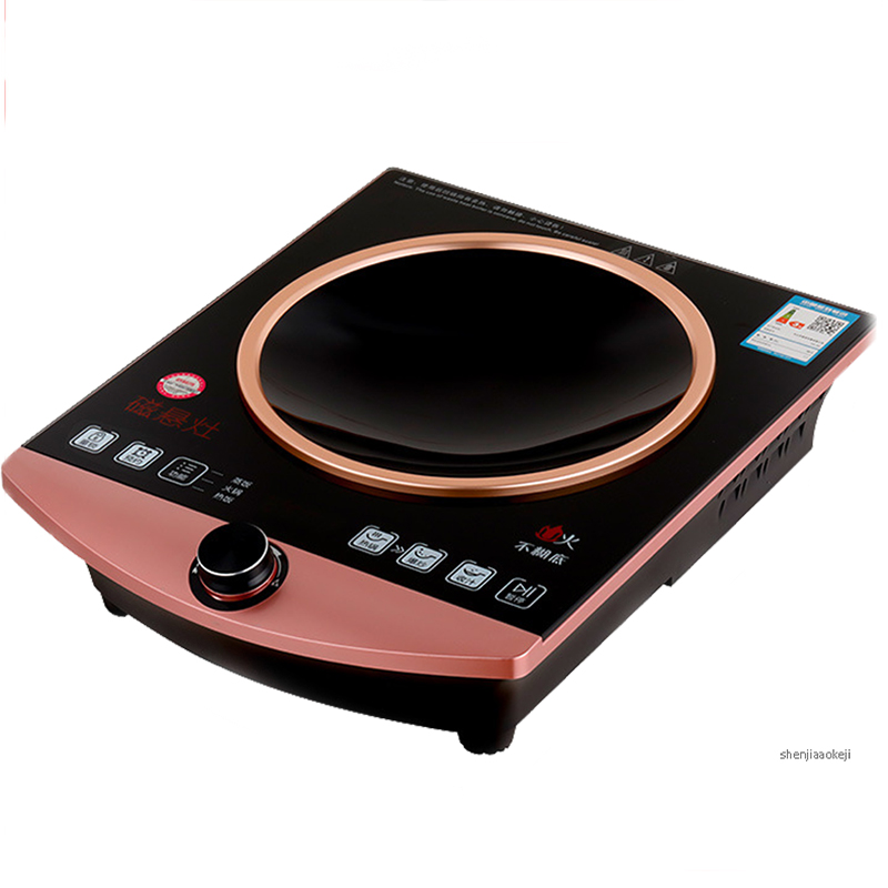 Home induction cooker holographic projection 3000W high power  desktop magnetic furnace without flames healthy stoveHome induction cooker holographic projection 3000W high power  desktop magnetic furnace without flames healthy stove