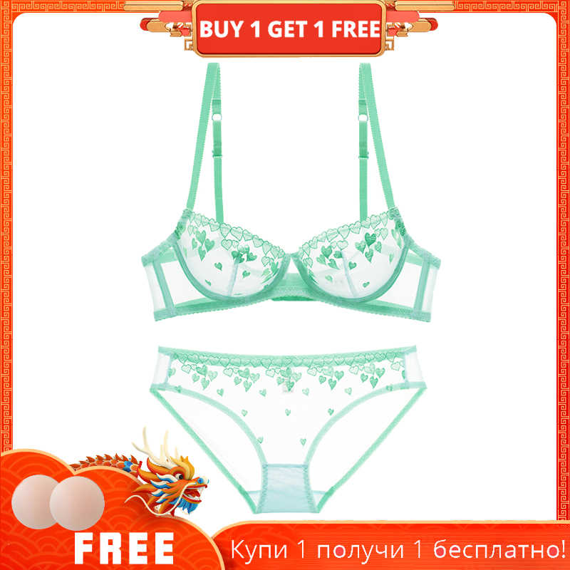 dcb3757235 Shaonvmeiwu Sexy women s new thin section of the network underwear pink  love bra transparent embroidery bra