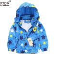 2017 3-8 years old New Baby Boys Girls Hooded print star Kids Jacket Coat Windbreaker Trench Girls Outerwear Coats