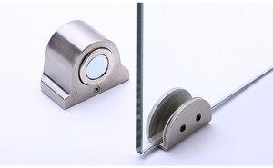 Image 1 - 1 Magnet Glas Tür Stop Edelstahl Tür Stopper Magnetische Tür Halter Wc Glas Tür Türstopper Möbel Hardware Tool