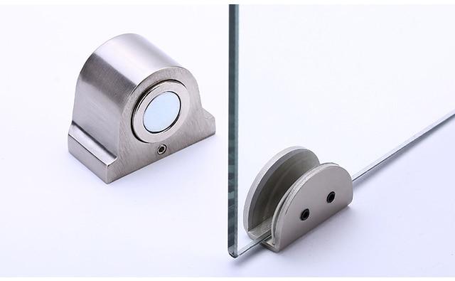 1 Magnet Glas Tür Stop Edelstahl Tür Stopper Magnetische Tür Halter Wc Glas Tür Türstopper Möbel Hardware Tool