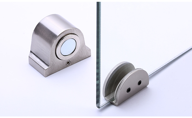 Batente de Porta Batente Da Porta do Aço Inoxidável De Vidro ímã 1 Doorstop Titular Magnético Da Porta Porta De Vidro Banheiro Mobiliário Hardware Ferramenta