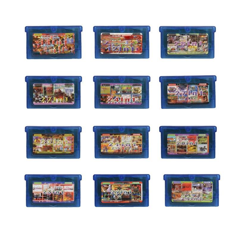32 bit eg série tudo em 1 jogo de vídeo cartucho console cartão coleção inglês idioma