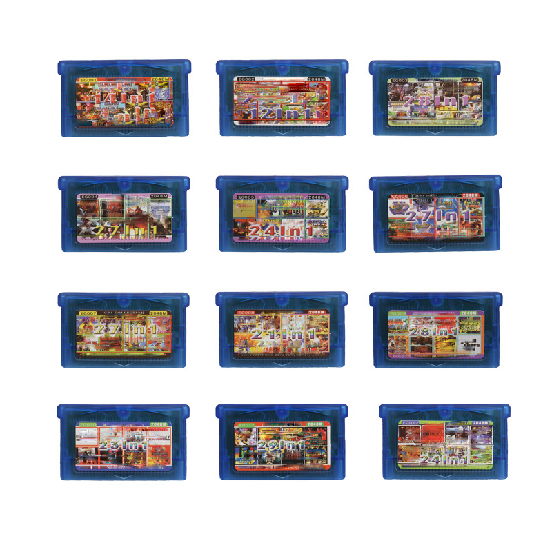 32 Bit EG Series All in 1 Video Game Cartridge Console Card Collection English Language