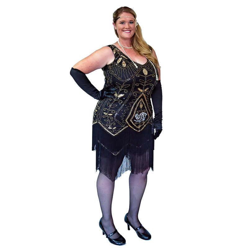 9b8224bc03e ... Women 1920s Flapper Dress Gatsby Vintage Plus Size Roaring 20s Costume  Dresses Fringed for Party Prom ...
