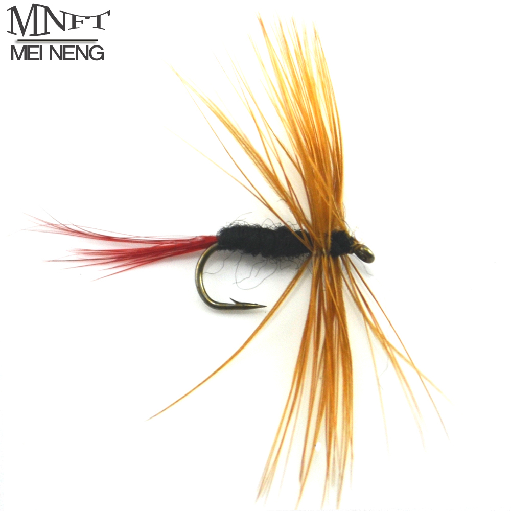MNFT 10PCS Brown Beard Nymph Mayfly For Trout Wet Fishing Dry Hook Flies Size 12 hualing rscw 298 wet dry lady shaver red brown