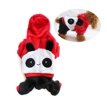 2019 New Small Dog Cat Clothes Panda Cartoon Cute Hoodie Pet Novelty Costume Puppy for Dogs Cats Winter Autumn Warm Coat