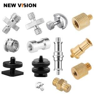 Image 1 - Tripod Head Monopod Flash Light Stand Adapter Metal Screw 1/4 3/8 Male Female Photographic Studio Accessories